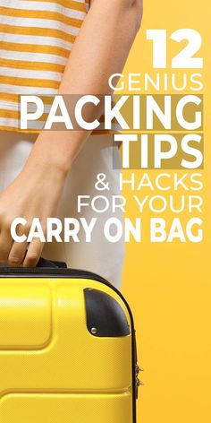 These genius packing tips & hacks for your carry on bag will help you pack everything you need for your trip, without having to pay that extra luggage charge! Carry On Packing, Packing Cubes, Carry On Luggage, Packing Tips For Travel, Carry On Bag, Travel Hacks, Packing Hacks, Vacation Packing, Travel Ideas