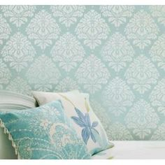Wall Stencil Damask Kerry Sm, Reusable Stencils Better Than Wallpaper #decor #stencil #home