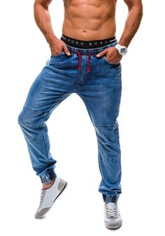 RED POLO 601 Hombre Pantalones Azul-Rojo XL [6F6]