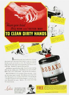 To clean those nasty little hands...vintage advertisement