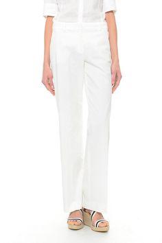Pantaloni in cotone, bianco - Diffusione Tessile