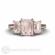 Hey, I found this really awesome Etsy listing at https://www.etsy.com/listing/186241419/morganite-engagement-ring-emerald