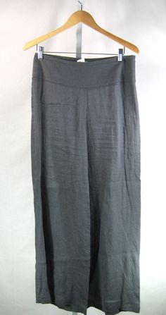 SARAH PACINI Gray Lightweight Linen Wide Leg Pant Size 2 / 8 #SarahPacini #Linen