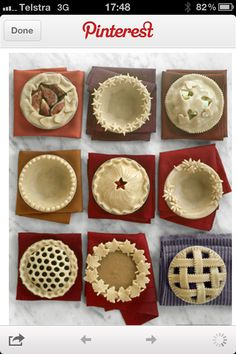 Decorative pies