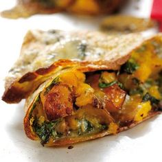 Butternut-squash-and-Stilton-pancakes: Vegetarian