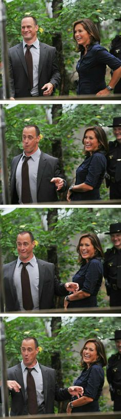 Chris Meloni & Mariska Hargitay Behind the Scenes. Law & Order: SVU