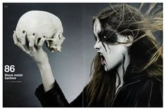 Heavy Metal Magazine Girls | from d magazine black metal barbies a photoshoot by antonella ...