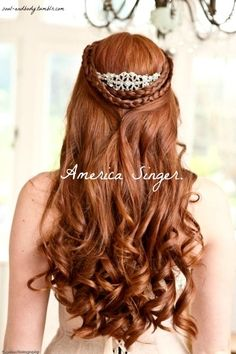 20 Best half up and half down wedding hairstyles. Wedding hairstyles for short hair. Ideas for wedding hairstyles. Wedding Hairstyles For Long Hair, Pretty Hairstyles, Girl Hairstyles, Bridal Hairstyles, Hairstyle Ideas, Princess Hairstyles, Easy Hairstyles, Style Hairstyle, Bridesmaid Hairstyles