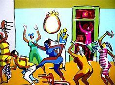 Caybé - Galeria de Gravura - Briga no bar