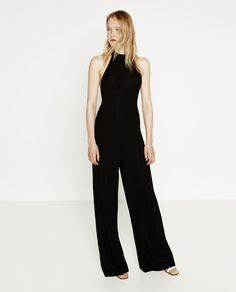 ZARA - WOMAN - HALTER NECK JUMPSUIT