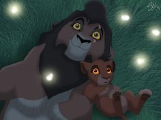 The Lion King: Kovu (father) and Leah (daughter)
