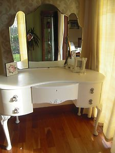 Solid Queen Anne Style dressing table with mirror £149.99 ono by Love Your Vintage Home