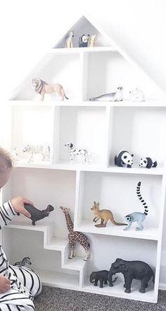 Leuk idee, een jongens poppenhuis voor dieren.