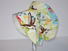 MODERN BABY BONNET  Sun Hat  Sun Bonnet  Toddler by AuntBsBonnets, $22.00 hummingbird floral print
