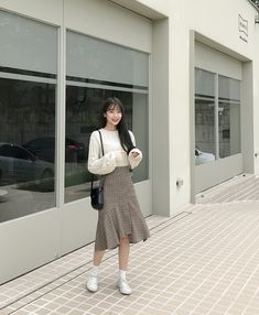 How often do you run across something fabulous, that influences your style? Then, shop the pieces our editors are praising right now. Korean Fashion Dress, Ulzzang Fashion, Korea Fashion, Korean Outfits, Asian Fashion, Modest Fashion, Skirt Fashion, Daily Fashion, Fashion Outfits