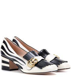 mytheresa.com - Zebra leather pumps - Luxury Fashion for Women / Designer clothing, shoes, bags