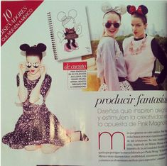 Ode to the Minnie Mouse Show here celebrated in Vogue Mexico with MERCURA NYC ART painted pop art sunglasses featured with Pink Magnolia in Sept 2011 MBFWMX complete show on vogue/mx.com