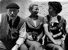 Ernest Hemingway, Mary Hemingway, and Ava Gardner.