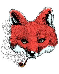 foxy smoke pipe animal Design Ideas - Print foxy smoke pipe animal Pictures on Shirts and Cases at HICustom.net