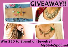Jewelry Giveaway - #WIN $50 to spend at #handemadeit jewelry! EVERYONE WHO ENTERS WINS 50% OFF COUPON CODE! #contest #giveaway #jewelry #earrings #bracelet #necklace #brooch #hande #fashion #style #womensfashionblog #womensfashionblogger #pinoftheday #womensfashion #accessories #mystylespot