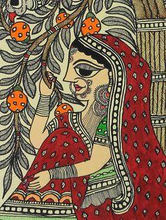 Easy Drawing Village Lady Madhubani Painting x - Village Lady Madhubani Painting x Rajasthani Painting, Rajasthani Art, Madhubani Art, Madhubani Painting, Art And Illustration, Kalamkari Painting, Indian Art Paintings, Classic Paintings, Indian Folk Art