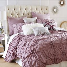 I'm in love with textured bedding lately...my daughter got this bedding set.