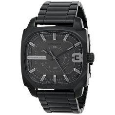 0c019584c3d6 Diesel Men s DZ1650 Shifter Black Stainless Steel Watch