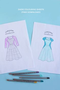 Planning to make a Zadie dress? I've created a colouring sheet to help you plan the design of your dress: Download the Zadie colouring sheet for free! Print off as many copies of the colouring sheet