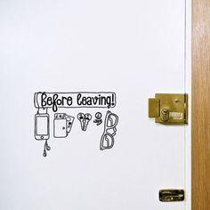 Hu2/Sticker Before Leaving Checklist/Complementi