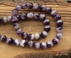Аметист шар 10 мм огранка пестрый бусины камни для украшений. Amethyst. Handmade.