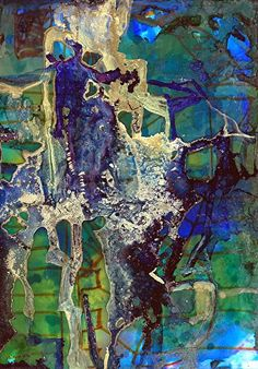 """Contemporary Artists of Louisiana: Abstract Alcohol Ink Painting """"Metropolitan I"""" by Contemporary New Orleans Artist Lou Jordan"""