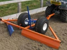 Landscaping Equipment, Lawn Equipment, Heavy Equipment, Metal Projects, Welding Projects, Welding Ideas, Diy Projects, Homemade Trailer, Garden Tractor Attachments