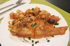 Receita de Peixe vermelho no forno com legumes