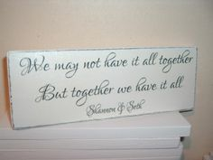 together... personalised plaque