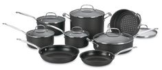 Cuisinart 66-14 Chef's Classic Nonstick Hard-Anodized 14-Piece Cookware Set at http://suliaszone.com/cuisinart-66-14-chefs-classic-nonstick-hard-anodized-14-piece-cookware-set/