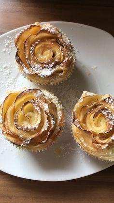 Apfel-Zimt-Rosen mit Blätterteig 1