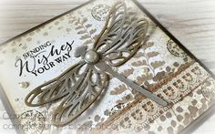 Dragonfly Dreams and Butterfly Basics stamp sets in a vintage combination.