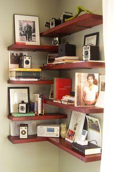 cool shelving corner idea