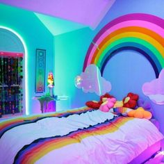 Oh my goodness... To srsly sleep IN A RAINBOW?!!