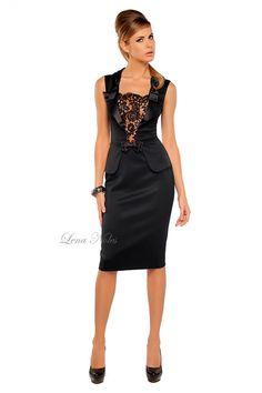 как украсить кружевом черное платье - Поиск в Google