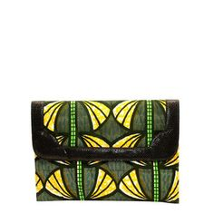 Emma Document Clutch Green, 62€, now featured on Fab.