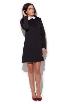 Katrus K245 Sukienka - czarny