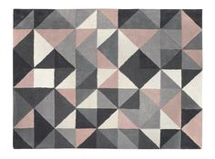 Henrik Large Hand Tufted Wool Rug 160 x 230m, Pink and Grey