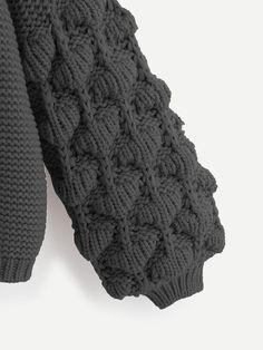 Ad: Plus Crochet Bishop Sleeve Cardigan. Tags: Casual, Grey, Plain, Regular, Coat, Long Sleeve, Fall/Winter, 100% Acrylic, Fabric has some stretch, Regular Fit #fashion #womenfashion #womenclothes #shein Spring And Fall, Fall Winter, Plus Size Cardigans, Bishop Sleeve, Fingerless Gloves, Arm Warmers, Knitting, Coat, Crochet