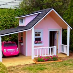 The garage gets me everytime lol Sm Little girl dream house! So precious and handmade.