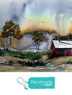 ORIGINAL painting Watercolor painting WATERCOLOR Painting, watercolor landscape, Pinetreeart, WATERCOLOR, landscape original, painting from Maine ARTist https://www.amazon.com/dp/B01HQT69RU/ref=hnd_sw_r_pi_dp_ESNDxbBZCRHC4 #handmadeatamazon
