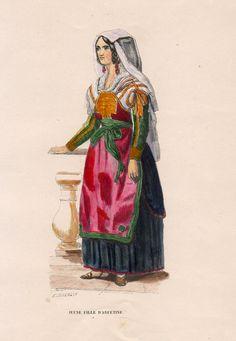 Abruzzo, Giovane donna di Arfetine, 1844  Jeune fille d'Arfetine, E.DUVERGER