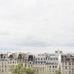Paris photograph rooftops paris skyline grey by AngsanaSeedsPhoto