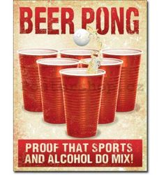 Beer Pong Played Here Wall Art Licensed Gifts Toys 241202 Poster