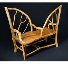 How cute!!  Unique Maple Tete a Tete Settee by Rustic Wood Creations